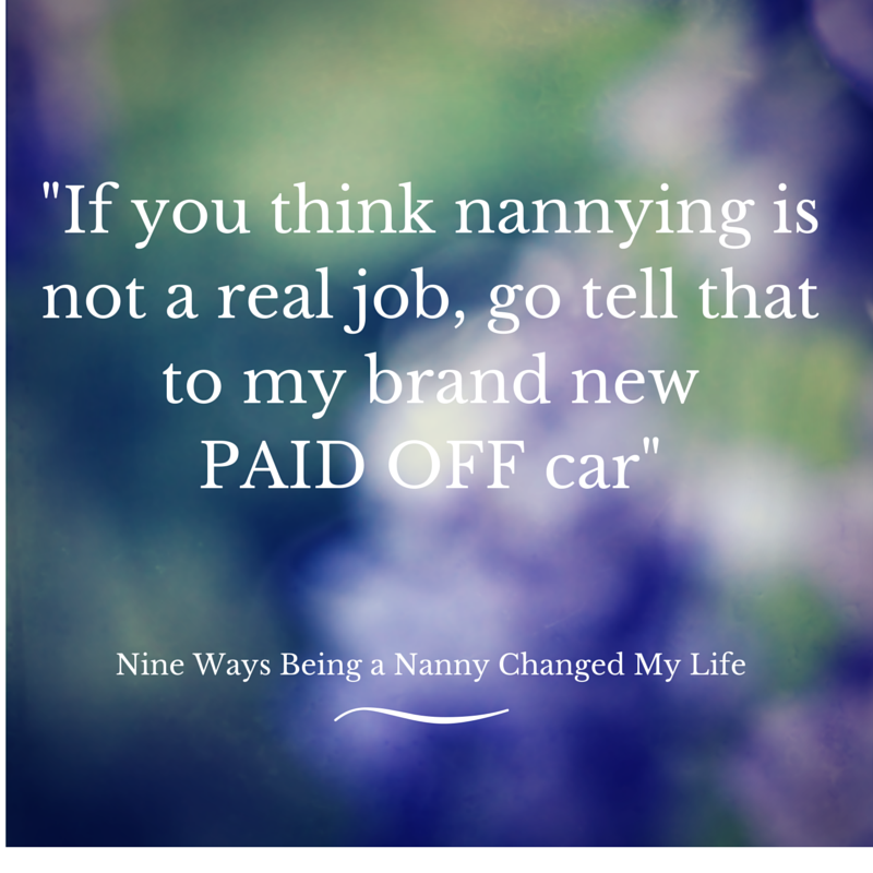 how to be a live in nanny